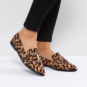 ASOS wide fit leopard flats; NWOT